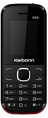 Karbonn K45+ (Black & Red Mobile Mobile