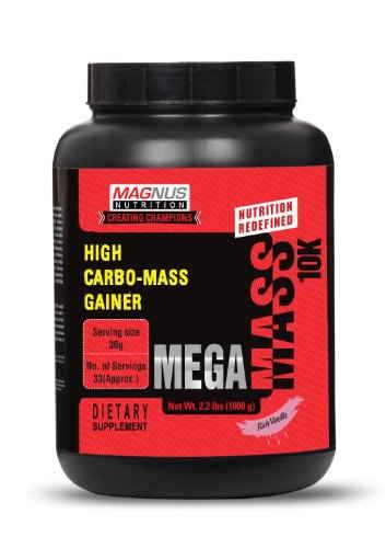 Magnus Nutrition Mega Mass 10K (1Kg / 2.2lbs, Vanilla)