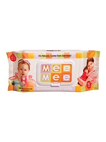 Mee Mee Baby Cotton Baby Wipes, 80 Pieces