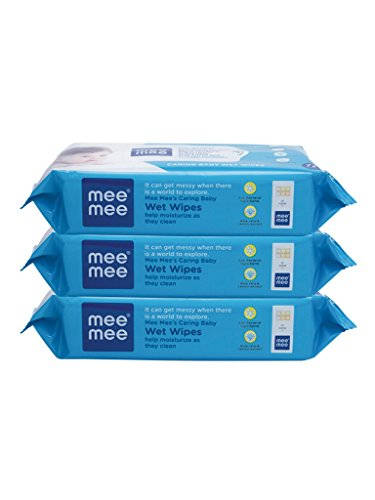 Mee Mee Caring Baby Wet Wipes With Lemon Fragrance, 72 Pieces (Pack Of 3)