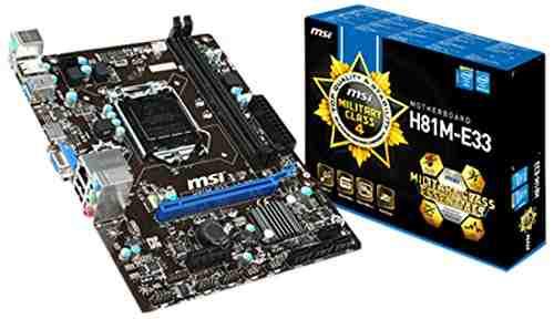 MSI H81M-E33 Motherboard
