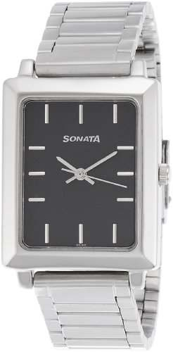 Sonata NH7078SM04C Quartz Black Square Men's Watch (NH7078SM04C)