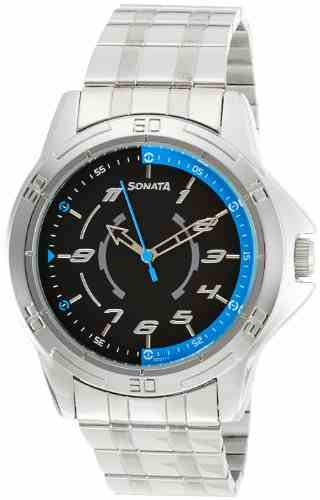 Sonata NG77001SM01AC Analog Watch (NG77001SM01AC)