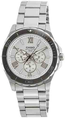 Casio Enticer MTD-1075D-7AVDF (A790) Silver Dial Men's Watch (MTD-1075D-7AVDF (A790))