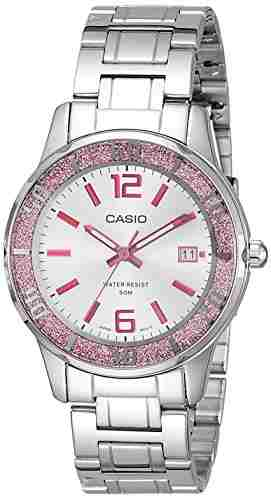 Casio Enticer LTP-1359D-4AVDF (A809) Analog Silver Dial Women's Watch