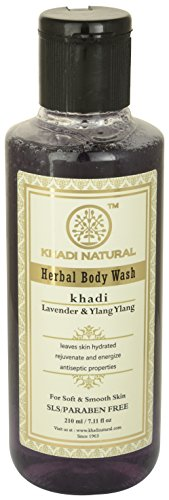 Khadi Lavender and Ylang Ylang Body Wash SLS and Paraben Free, 210ml