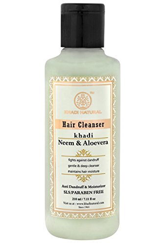 Khadi Neem and Aloevera SLS and Paraben Free Hair Cleanser (210ml)