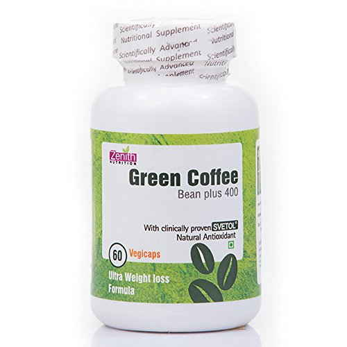 Zenith Nutrition Green Coffee Bean Plus 400 mg Supplements (60 Capsules)