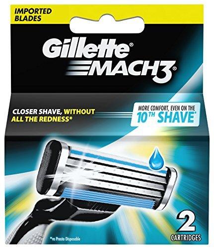 Gillette Mach 3 Manual Shaving Razor Blades Cartridge  2s Pack