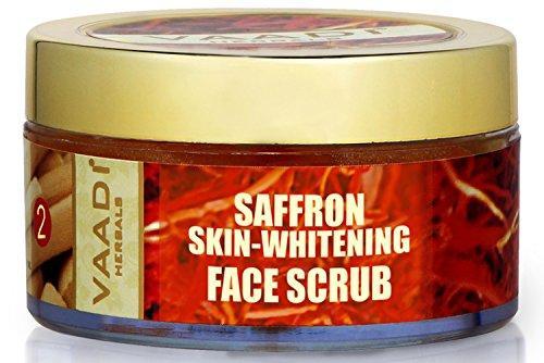 Vaadi Herbals Saffron Skin Whitening Face Scrub, 50 GM