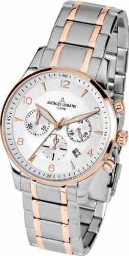 Jacques Lemans 1-1654P Classic Analog Watch (1-1654P)