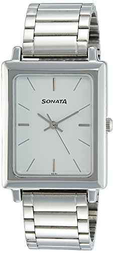 Sonata NG7078SM03C Analog Silver Dial Men's Watch