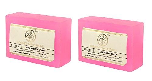 Khadi Natural Rosewater Soap, 125 GM (Pack of 2)