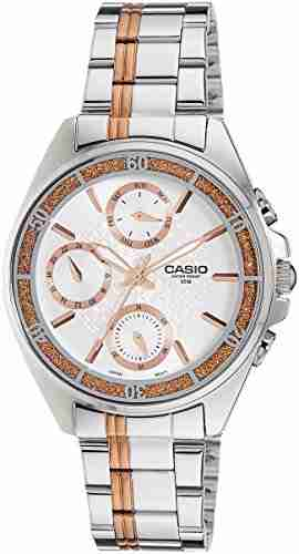 Casio Enticer LTP-2086RG-7AVDF (A857) Silver Dial Women's Watch