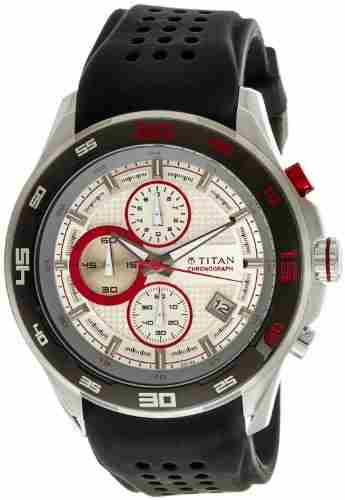 Titan 90008KP01J Analog Watch