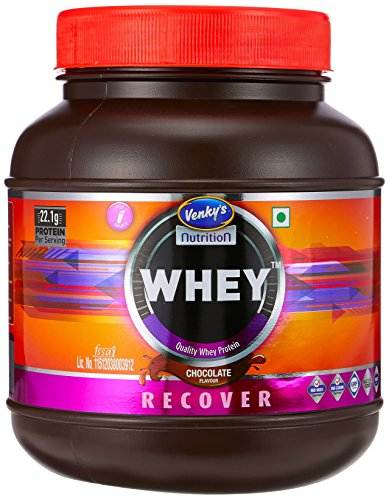 Venky's Recover Whey Protein (1Kg, Chocolate)