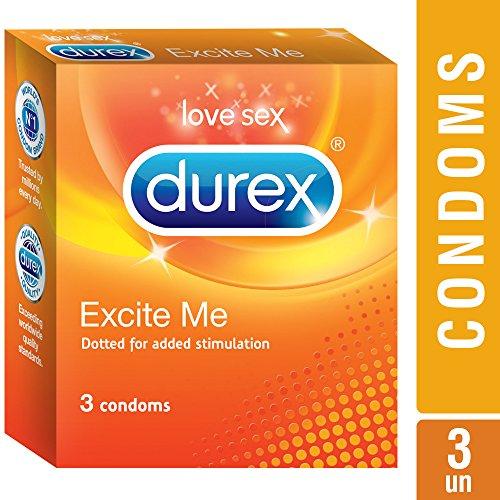 Durex Excite Me Condoms, 3 Pieces