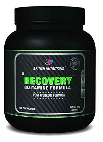British Nutritions Recovery Glutamine Formula (300gm, Fruit Punch)