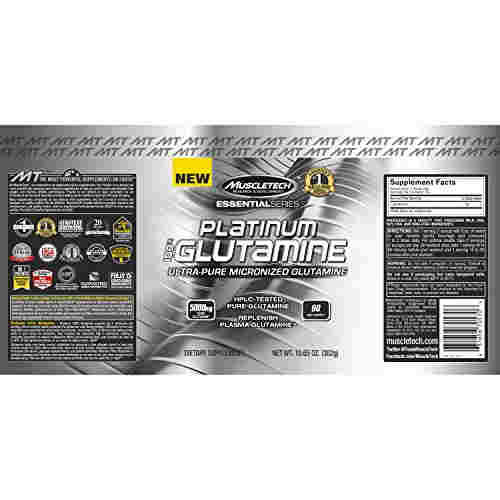 Muscletech Essential Series Platinum 100% Glutamine (300gm, Unflavoured)