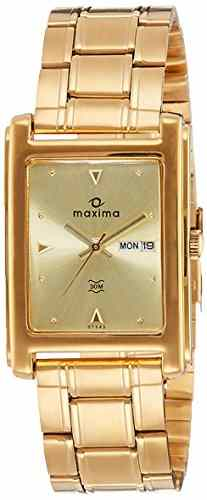 Maxima 07543CPGY Analog Champagne Dial Men's Watch (07543CPGY)