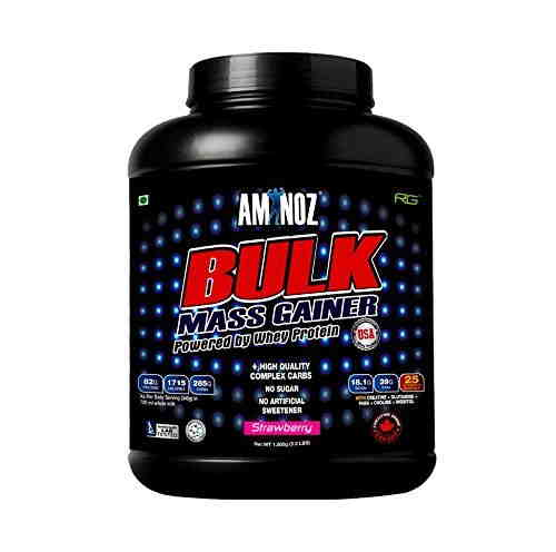 Aminoz Bulk Mass Gainer (1.5Kg, Strawberry)