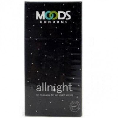 Moods All Night Condoms (Pack of 2, 24 Condoms)