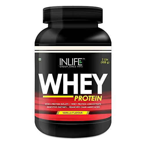 Inlife Whey Protein Powder With Free Shaker (908gm, Vanilla)