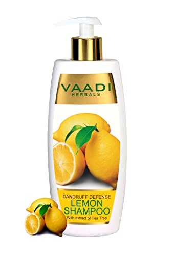 Vaadi Herbals Dandruff Defense With Extract of Tea Tree Lemon Shampoo 350gm