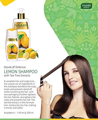 Vaadi Herbals Dandruff Defense With Extract of Tea Tree Lemon Shampoo (350gm)