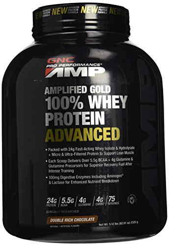 Gnc Amplified Gold Whey Protein Advanced Powder (2.3Kg, Chocolate)