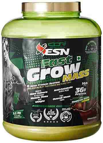 ESN Fast Grow Mass Gainer (2.5Kg, Chocolate)
