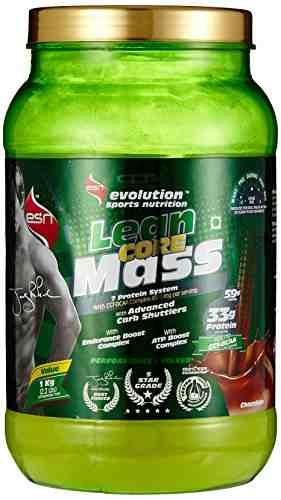 ESN Lean Core Mass Gainer (1Kg, Chocolate)