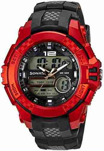 Sonata 77027PP01J ocean lll Analog-Digital Watch (77027PP01J)