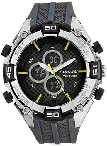 Sonata NH77028PP01J Superfibre Ocean III Analog-Digital Watch (NH77028PP01J)