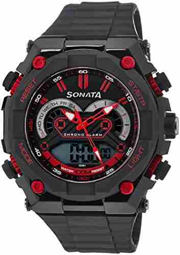 Sonata NH77030PP01J Superfibre Ocean III Analog-Digital Watch (NH77030PP01J)