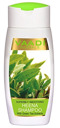 Vaadi Herbals With Green Tea Extracts Superbly Smoothing Heena Shampoo 110ml