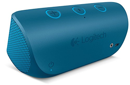 Logitech X300 With Aux In/Mic Bluetooth Speaker, Blue