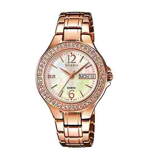Casio Sheen SHE-4800PG-9AUDR (SX099) Analog Multi Color Dial Women's Watch (SHE-4800PG-9AUDR (SX099))