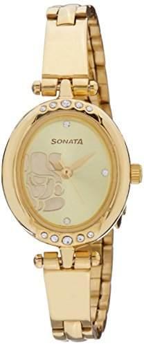 Sonata 8118YM01C Sona Sitara Analog Watch