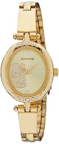 Sonata 8118YM01C Sona Sitara Analog Watch (8118YM01C)