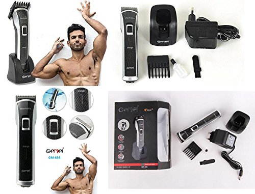 Gemei GM656 Hair Clipper Trimmer  Grey & Black
