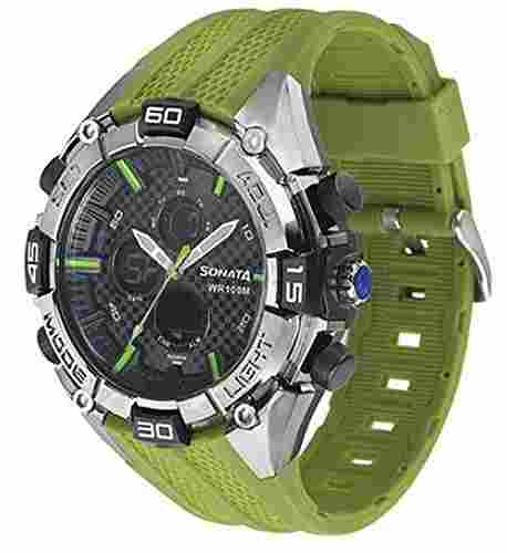 Sonata NH77028PP02 Superfibre Ocean III Analog-Digital Watch (NH77028PP02)