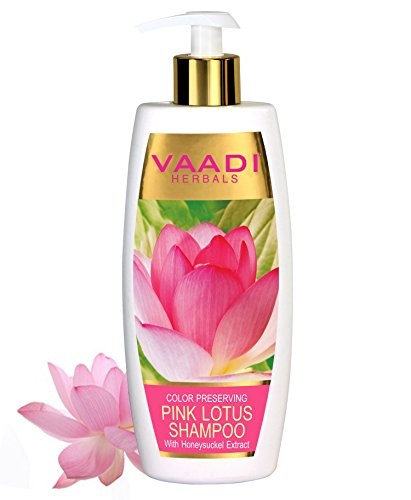 Vaadi Herbals With Honey Suckle Extract Pink Lotus Shampoo 350ml