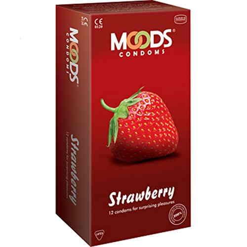 Moods Strawberry Condoms (12 Condoms)