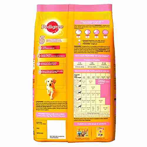Pedigree Puppy Chicken, Milk Dog Food 3 kg