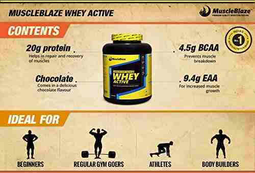 MuscleBlaze Whey Active (2Kg / 4.41lbs, Chocolate)