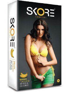 Skore Chocolate,banana,strawberry and orange Condoms(40 Condoms)