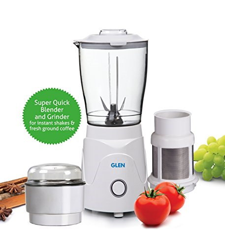 Glen SA4045BG 350 Watts Mini Blender & Grinder White, (3 Jars)