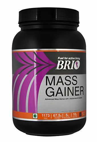 Brio Mass Gainer (1.5Kg, Kesar Badam Pista)