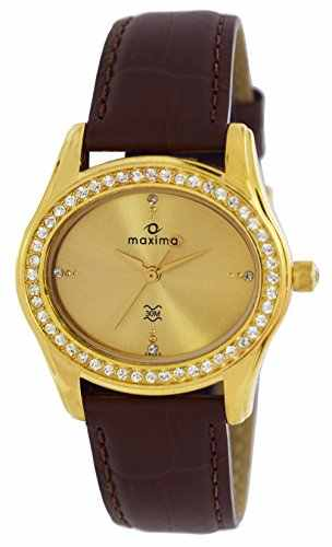 Maxima 29533LMLY Gold Swarovski Analog Watch (29533LMLY)